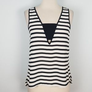 Express striped tank blouse